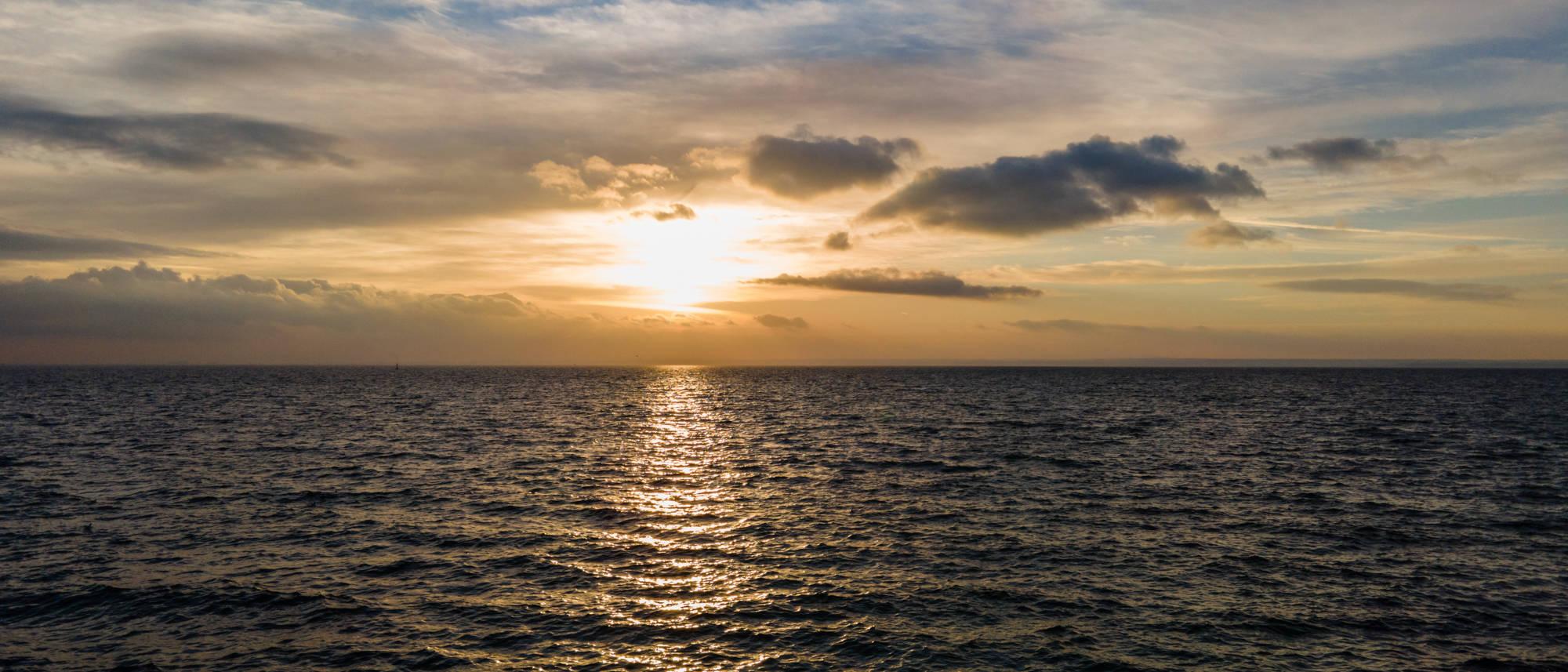 zachod słońca zatoka
